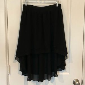 Black Flowy Skirt Anthropologie